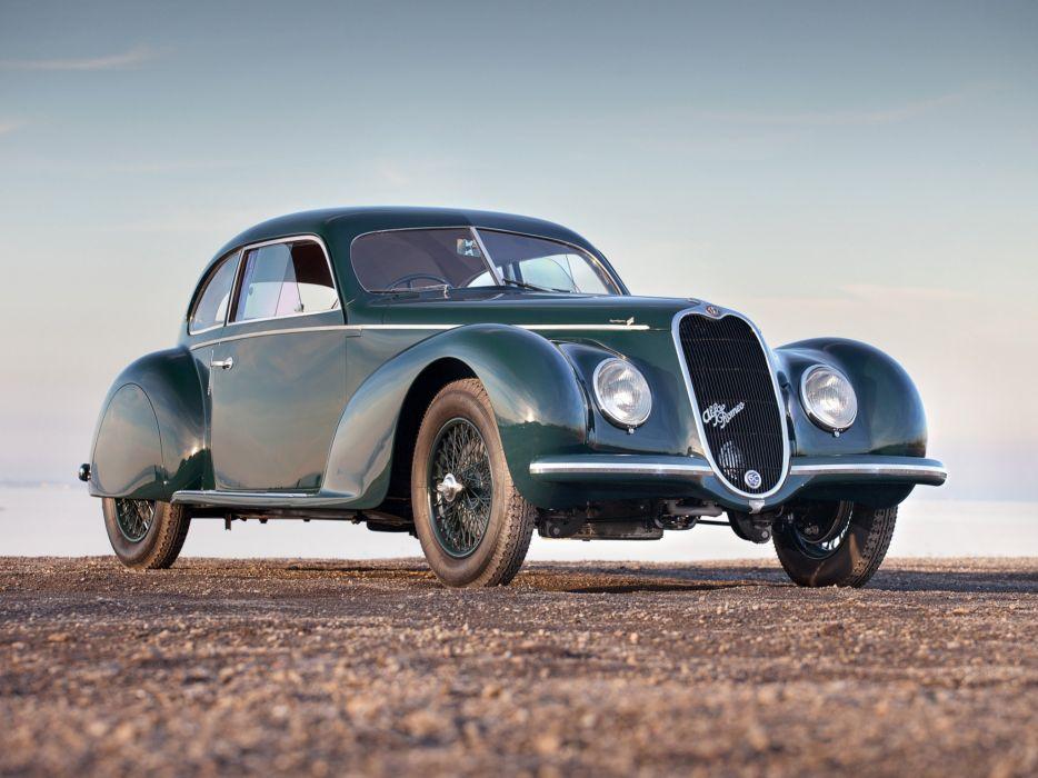 1939 Alfa Romeo 6-C 2500 S Berlinetta retro touring      h wallpaper