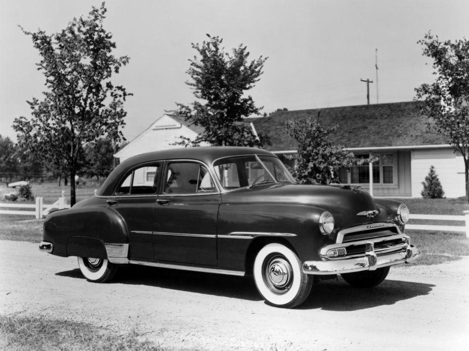 1951 Chevrolet Deluxe Styleline 4-door Sedan (2103-1069) retro     h wallpaper