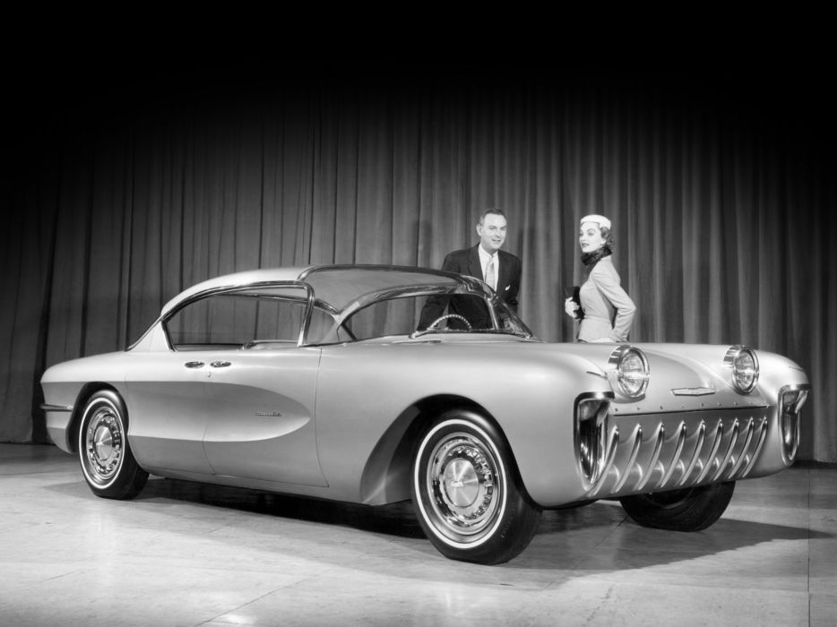 1955 Chevrolet Biscayne Concept retro   f wallpaper