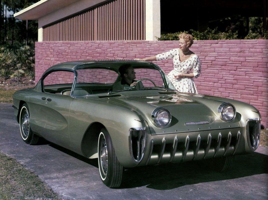1955 Chevrolet Biscayne Concept retro      h wallpaper