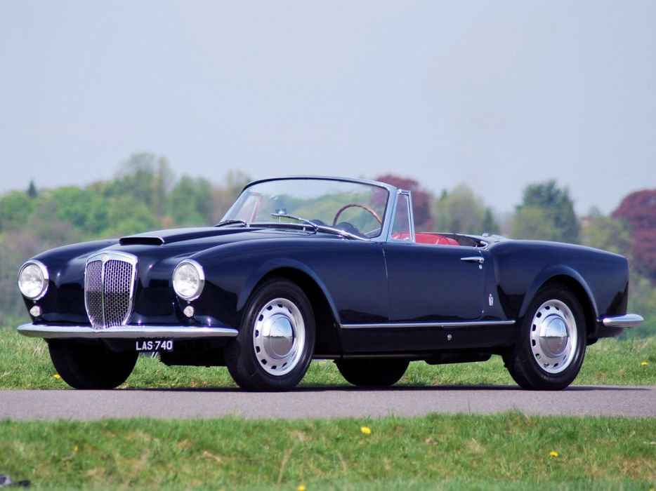 1956-58 Lancia Aurelia G-T Convertible (B24) retro   h wallpaper