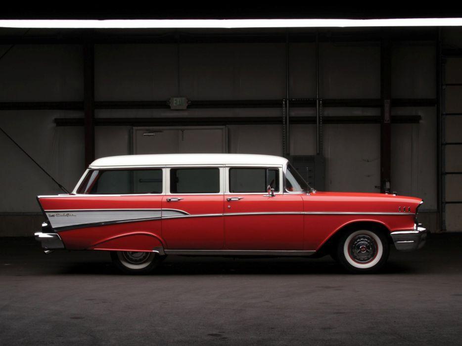 1957 Chevrolet Bel Air Townsman (2409-1062DFC) stationwagon retro luxury   fs wallpaper