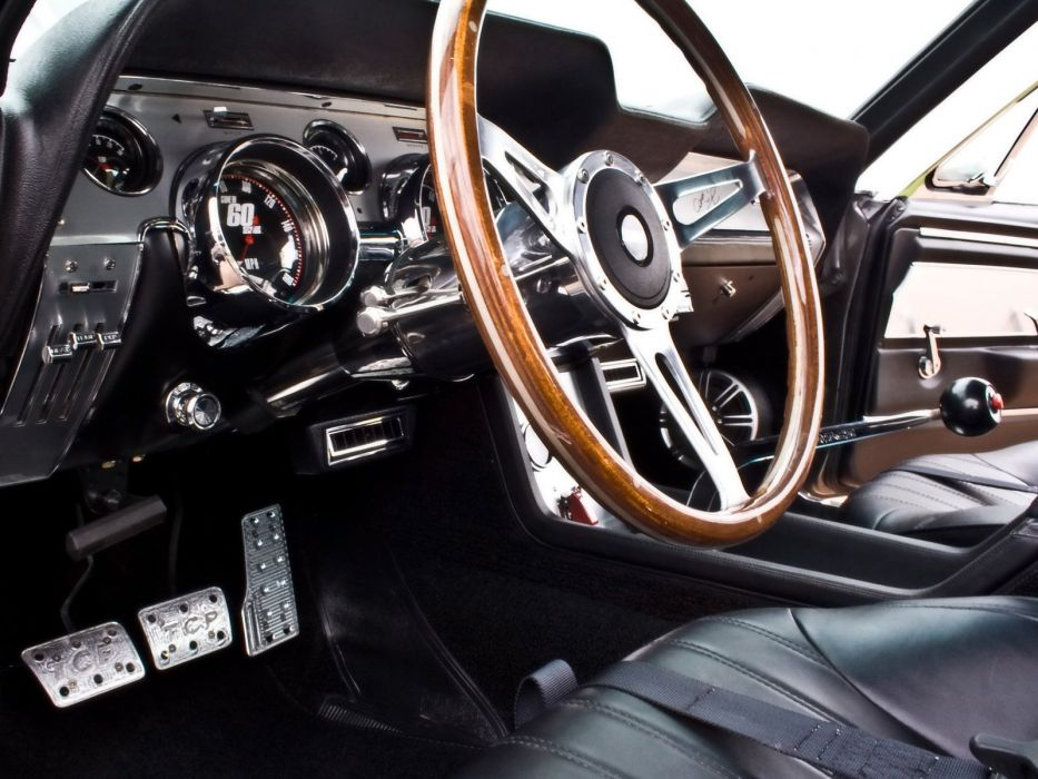 1967 Ford Mustang Shelby Cobra GT500 Eleanor hot rod rods muscle classic interior  g wallpaper