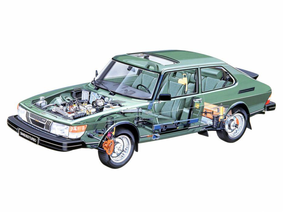 1980-87 Saab 900 Turbo interior engine      g wallpaper