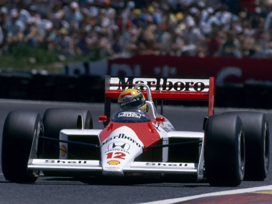 1988 McLaren Honda MP4-4 formula f-1 race racing        g wallpaper