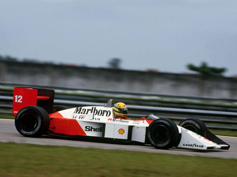 1988 McLaren Honda MP4-4 formula f-1 race racing   h wallpaper