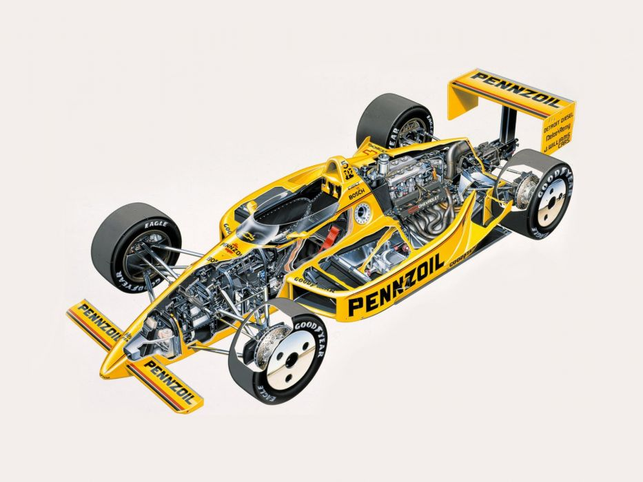1988 Penske PC17 formula f-1 race racing interior engine      f wallpaper