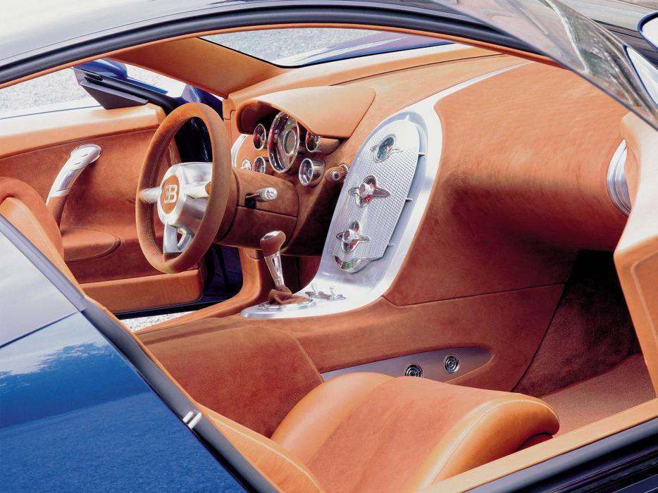 1999 Bugatti E-B 18-4 Veyron Concept supercar interior    g wallpaper
