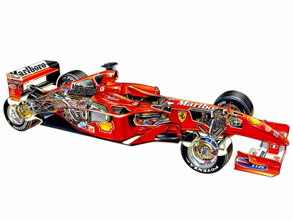2001 Ferrari F2001 formula f-1 race racing       g wallpaper