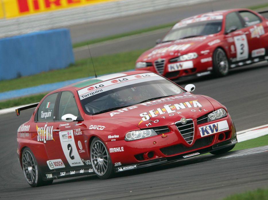 2004-07 Alfa Romeo 156 Super 2000 (SE107) WTCC race racing  k wallpaper