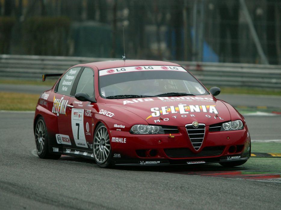2004-07 Alfa Romeo 156 Super 2000 (SE107) WTCC race racing  f wallpaper