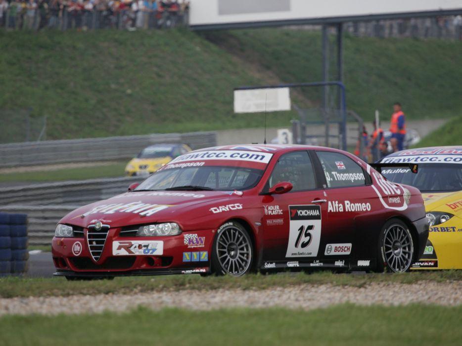 2004-07 Alfa Romeo 156 Super 2000 (SE107) WTCC race racing  g wallpaper