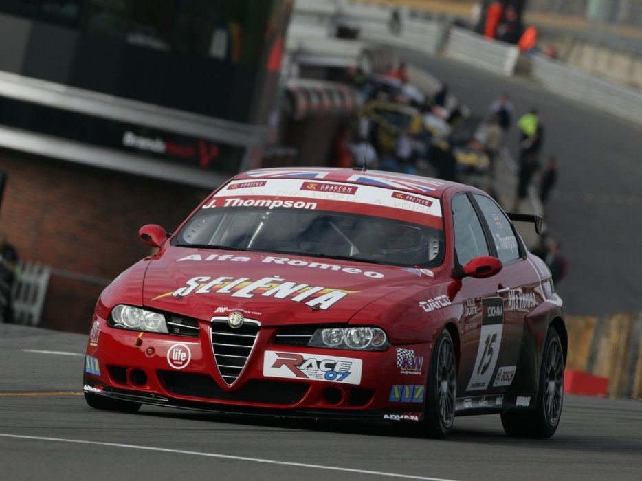 2004-07 Alfa Romeo 156 Super 2000 (SE107) WTCC race racing  hd wallpaper