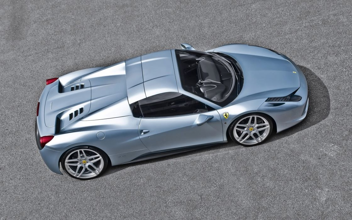 2013 A-Kahn-Design Ferrari 458 Spider Blue supercar       g wallpaper