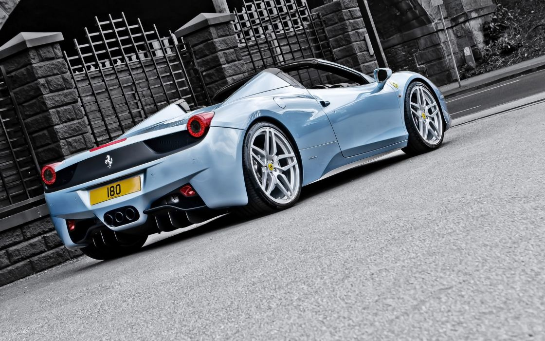 2013 A-Kahn-Design Ferrari 458 Spider Blue supercar   f wallpaper
