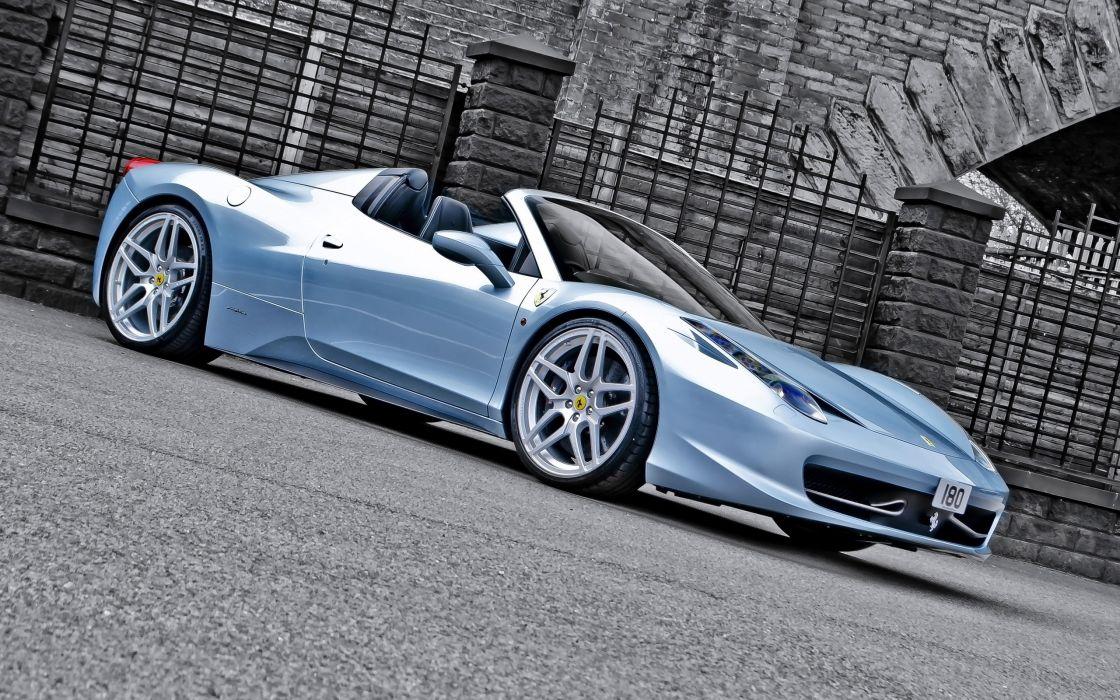 2013 A-Kahn-Design Ferrari 458 Spider Blue supercar  fs wallpaper