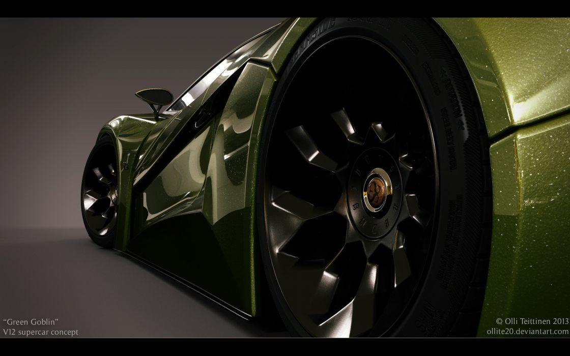 2013 V12 Goblin Concept Olli-Teittinen supercar wheel   f wallpaper