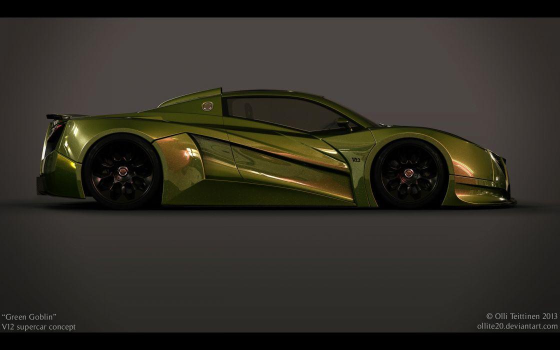 2013 V12 Goblin Concept Olli-Teittinen supercar  d wallpaper