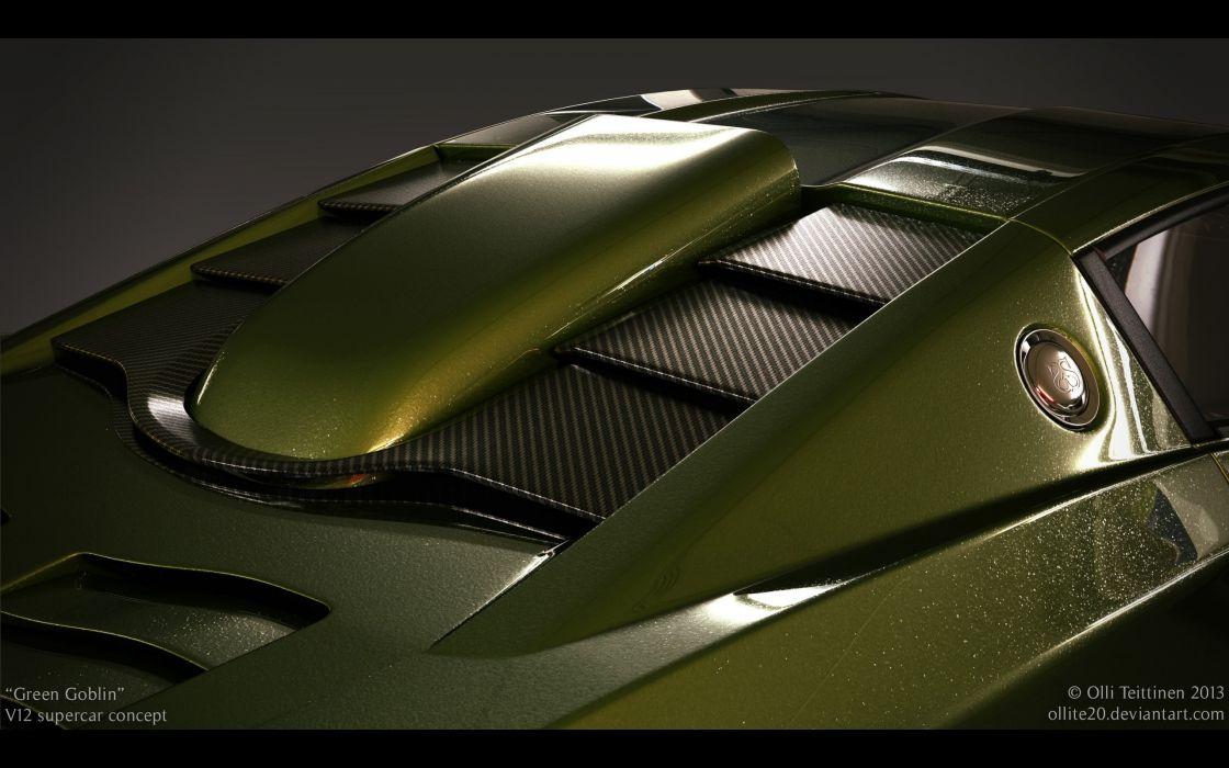 2013 V12 Goblin Concept Olli-Teittinen supercar  fq wallpaper