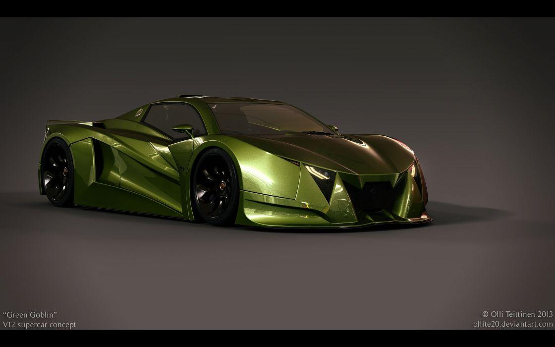 2013 V12 Goblin Concept Olli-Teittinen supercar     g wallpaper