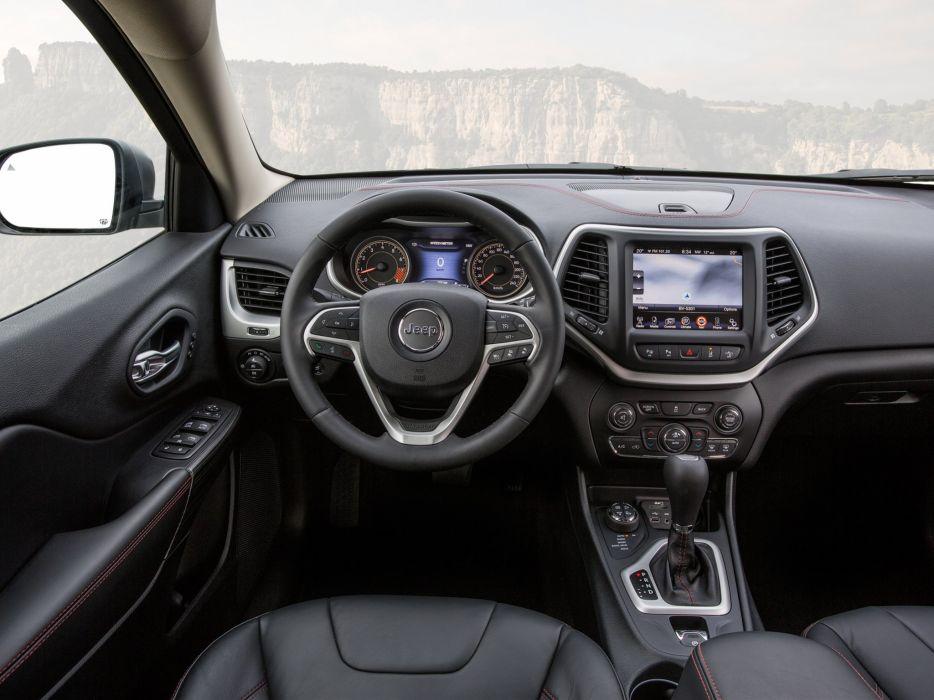2014 Jeep Cherokee Trailhawk EU-spec (K-L) suv 4x4 interior    h wallpaper
