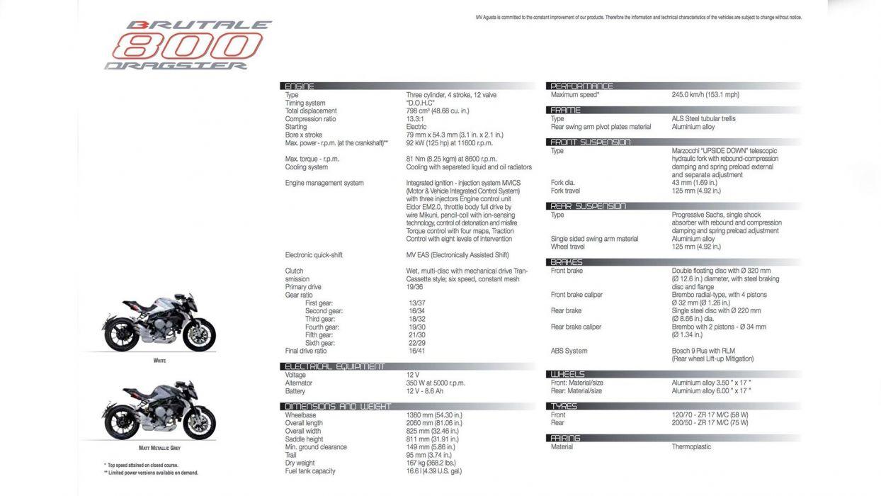 2014 MV-Agusta Brutale 800 Dragster superbike bike motorbike poster    h wallpaper