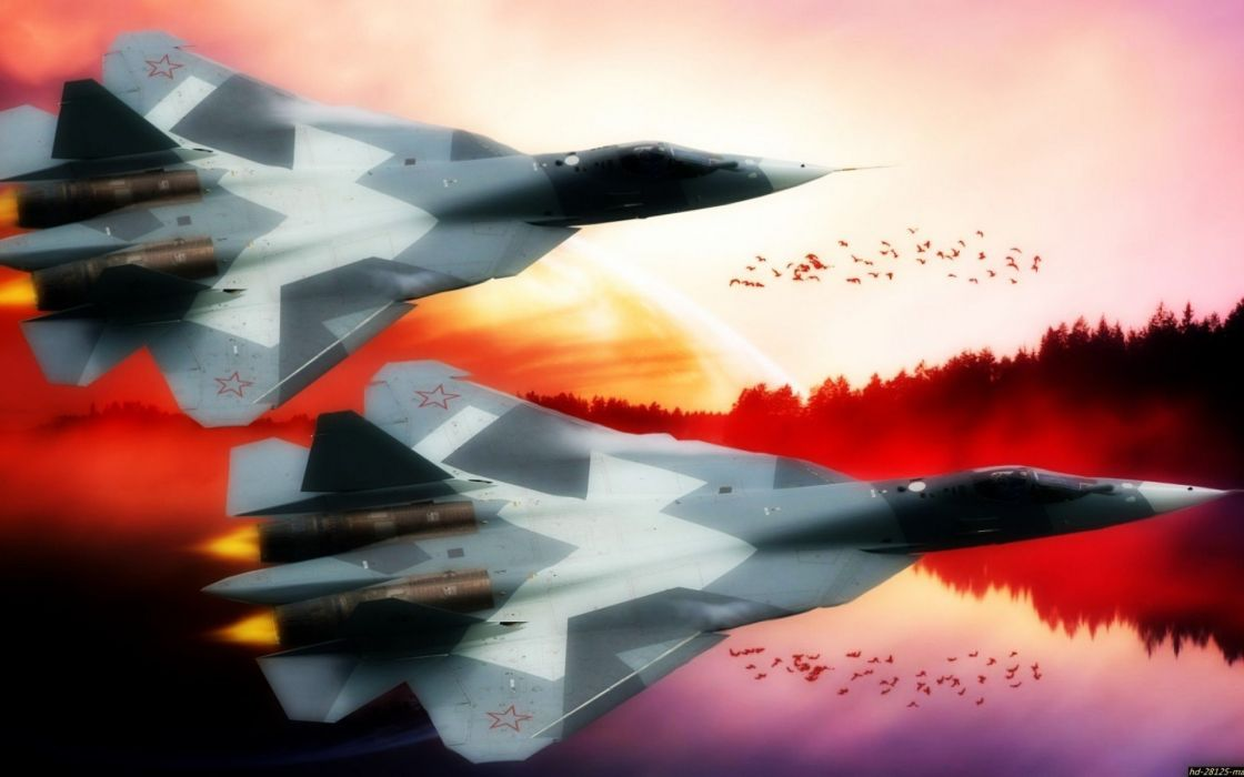 Sukhoi T-50 Fighter Jet military airplane plane stealth pak f-a russian (2) wallpaper