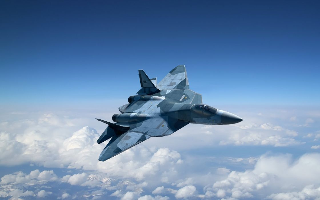 Sukhoi T 50 Fighter Jet Military Airplane Plane Stealth Pak F A Russian 5