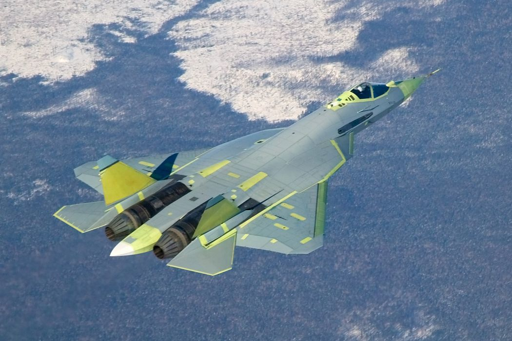 Sukhoi T-50 Fighter Jet military airplane plane stealth pak f-a russian (4) wallpaper