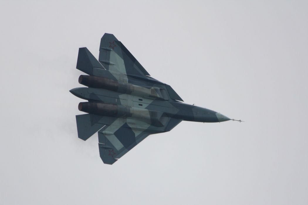 Sukhoi T-50 Fighter Jet military airplane plane stealth pak f-a russian (8) wallpaper