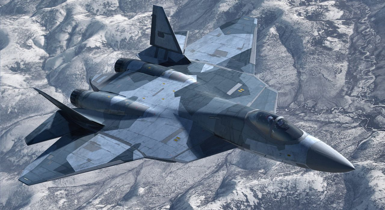 Sukhoi T-50 Fighter Jet military airplane plane stealth pak f-a russian (9) wallpaper