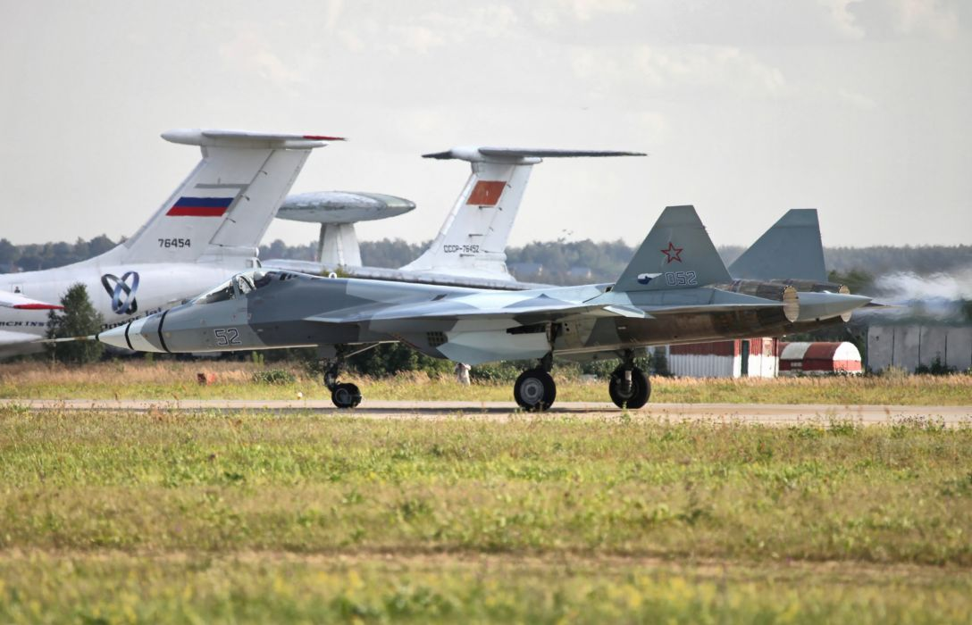 Sukhoi T-50 Fighter Jet military airplane plane stealth pak f-a russian (16) wallpaper