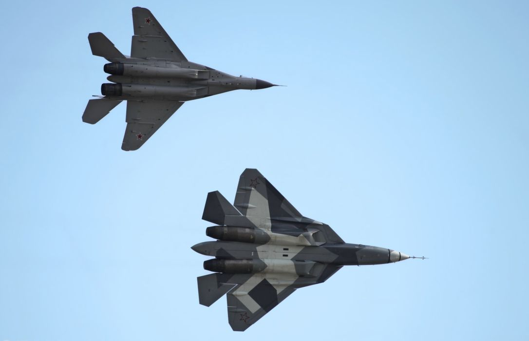 Sukhoi T-50 Fighter Jet military airplane plane stealth pak f-a russian (17) wallpaper