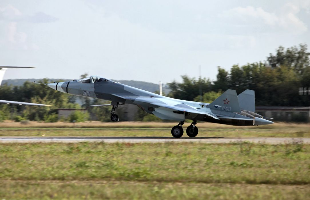 Sukhoi T-50 Fighter Jet military airplane plane stealth pak f-a russian (19) wallpaper