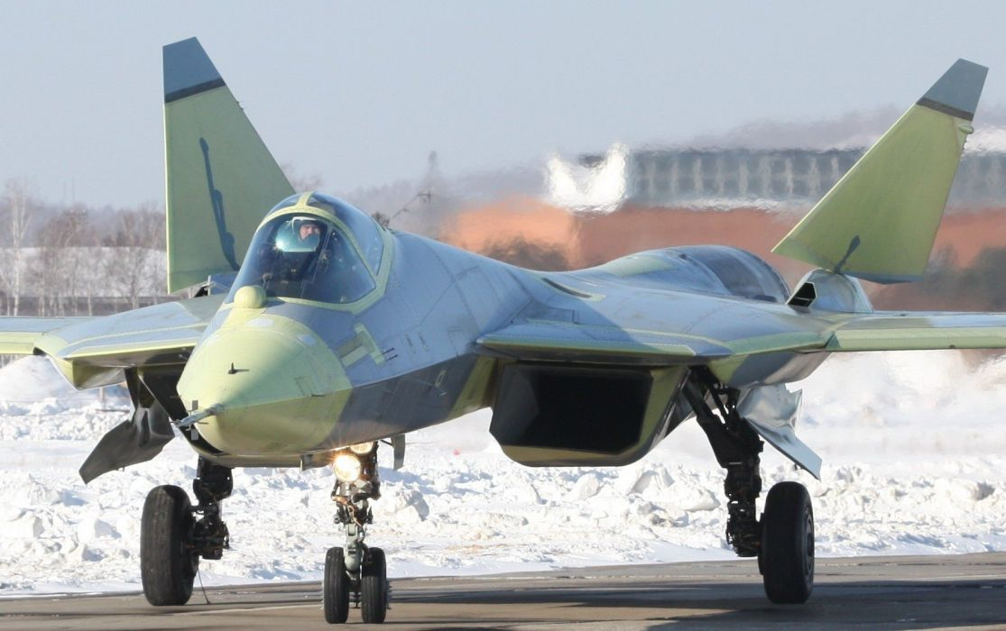Sukhoi T-50 Fighter Jet military airplane plane stealth pak f-a russian (20) wallpaper