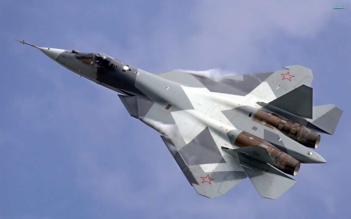 Sukhoi T-50 Fighter Jet military airplane plane stealth pak f-a russian (21) wallpaper