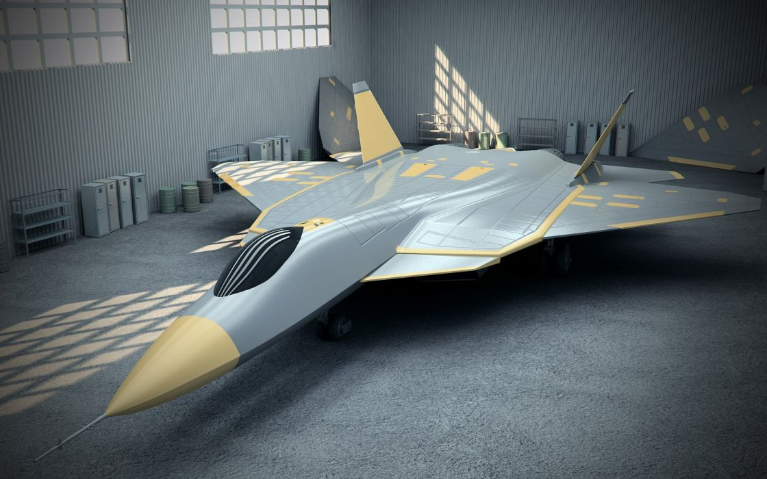 Sukhoi T-50 Fighter Jet military airplane plane stealth pak f-a russian (28) wallpaper