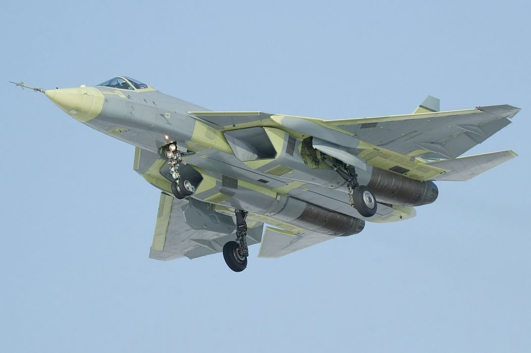Sukhoi T-50 Fighter Jet military airplane plane stealth pak f-a russian (33)_JPG wallpaper