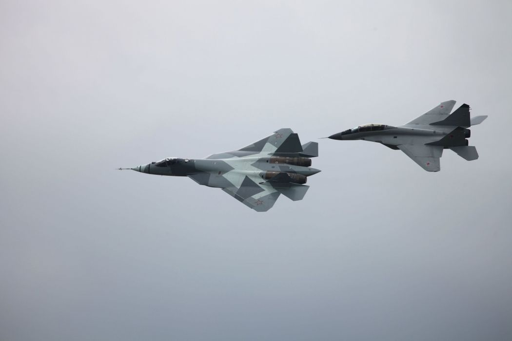Sukhoi T-50 Fighter Jet military airplane plane stealth pak f-a russian (35) wallpaper