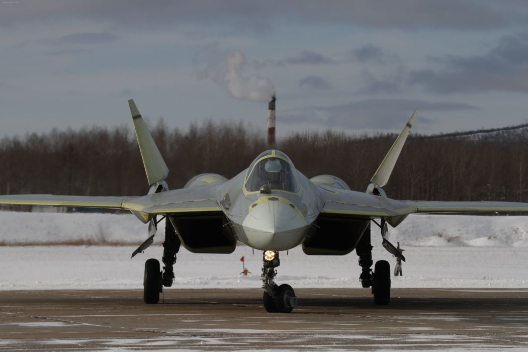 Sukhoi T-50 Fighter Jet military airplane plane stealth pak f-a russian (36) wallpaper