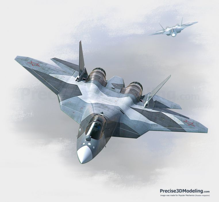 Sukhoi T-50 Fighter Jet military airplane plane stealth pak f-a russian (38) wallpaper