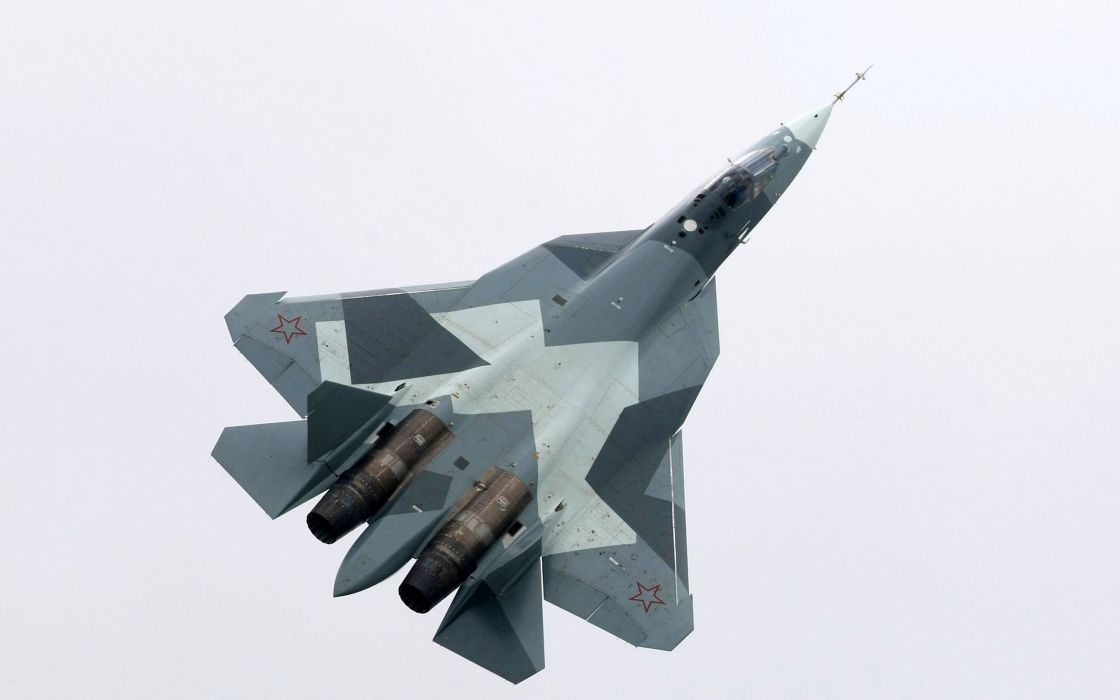 Sukhoi T-50 Fighter Jet military airplane plane stealth pak f-a russian (41) wallpaper