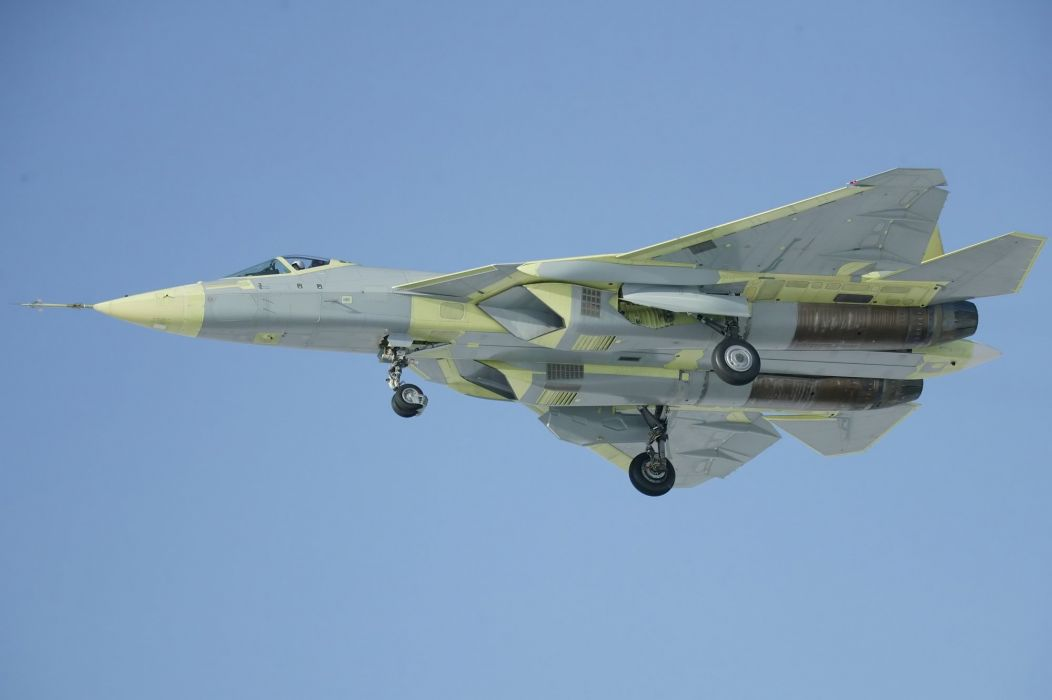 Sukhoi T-50 Fighter Jet military airplane plane stealth pak f-a russian (46) wallpaper