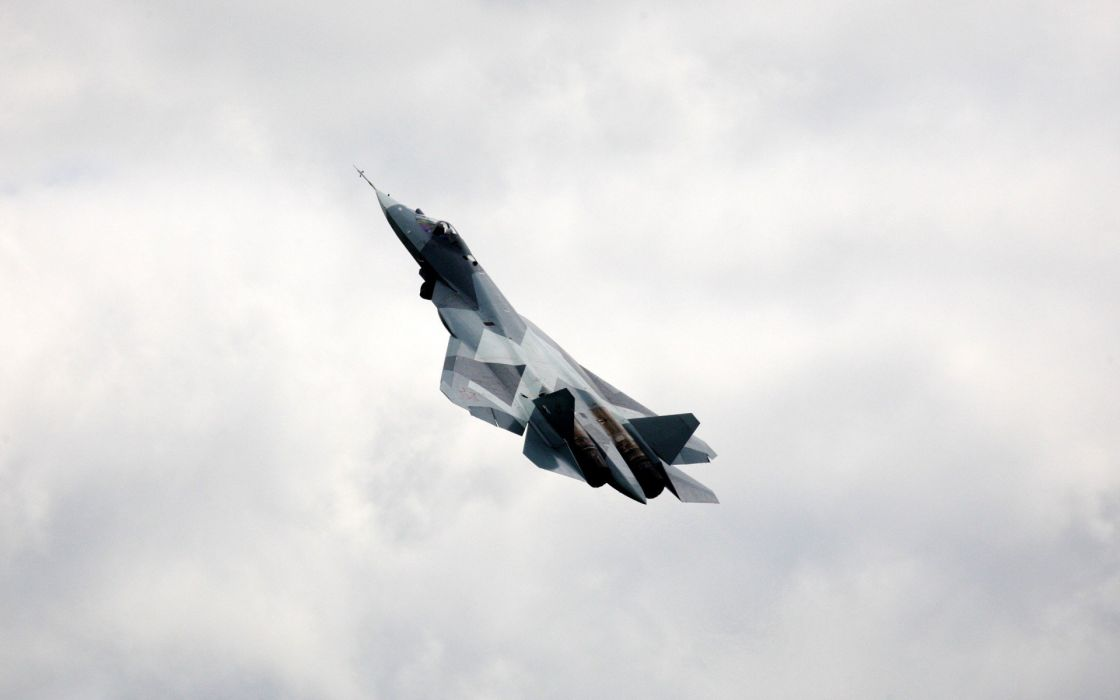 Sukhoi T-50 Fighter Jet military airplane plane stealth pak f-a russian (47) wallpaper