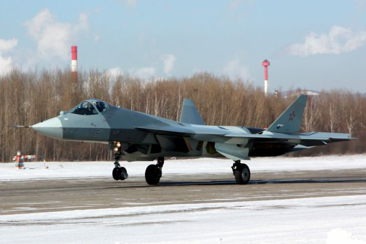 Sukhoi T-50 Fighter Jet military airplane plane stealth pak f-a russian (49) wallpaper
