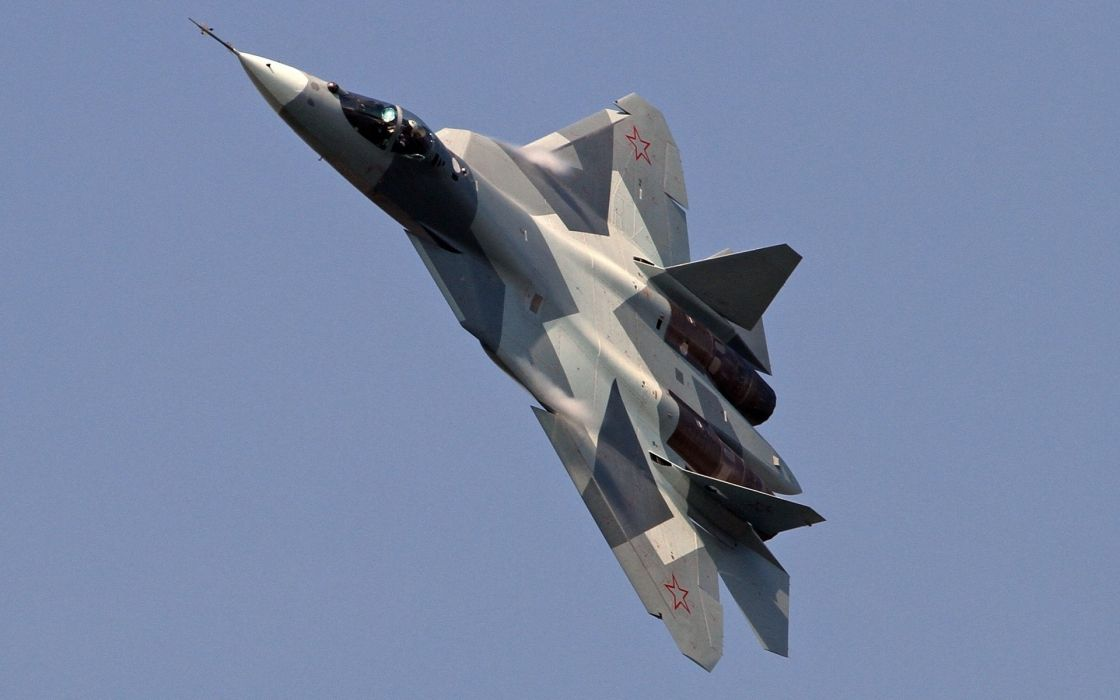 Sukhoi T-50 Fighter Jet military airplane plane stealth pak f-a russian (50) wallpaper