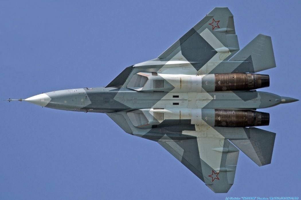 Sukhoi T-50 Fighter Jet military airplane plane stealth pak f-a russian (52) wallpaper