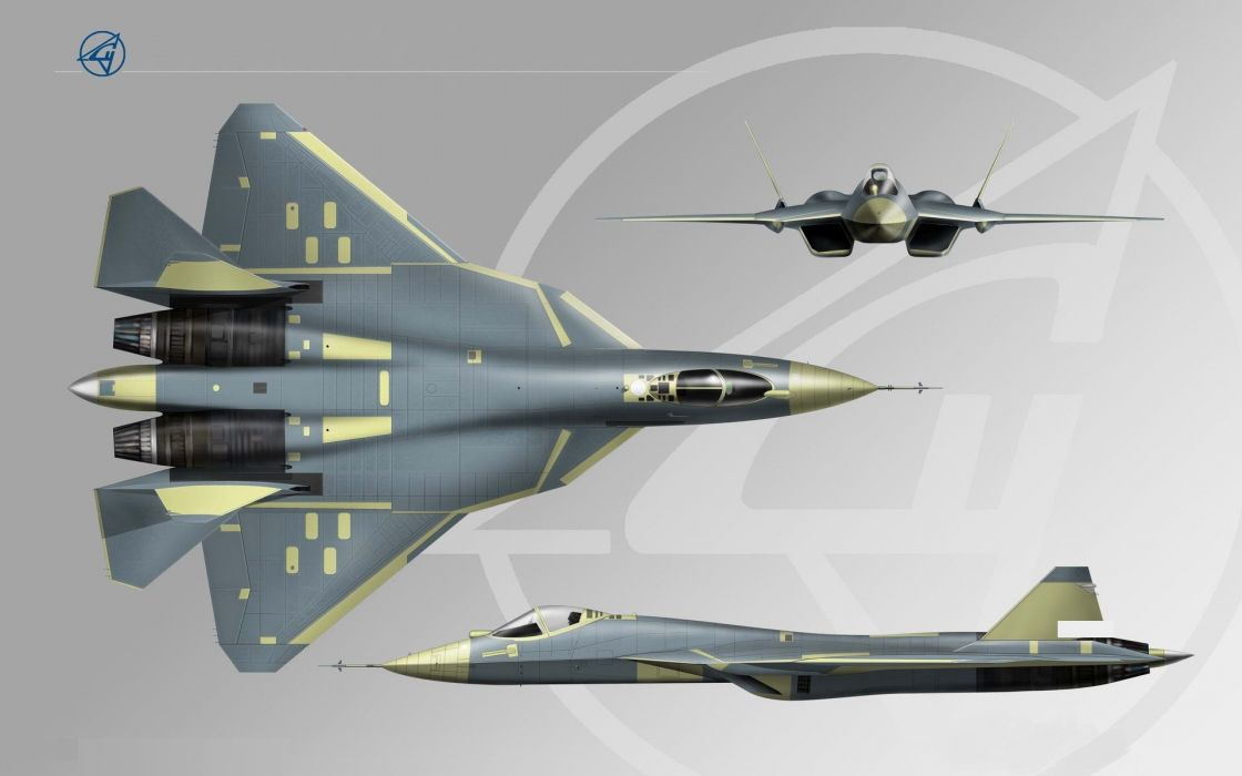 Sukhoi T-50 Fighter Jet military airplane plane stealth pak f-a russian (54) wallpaper