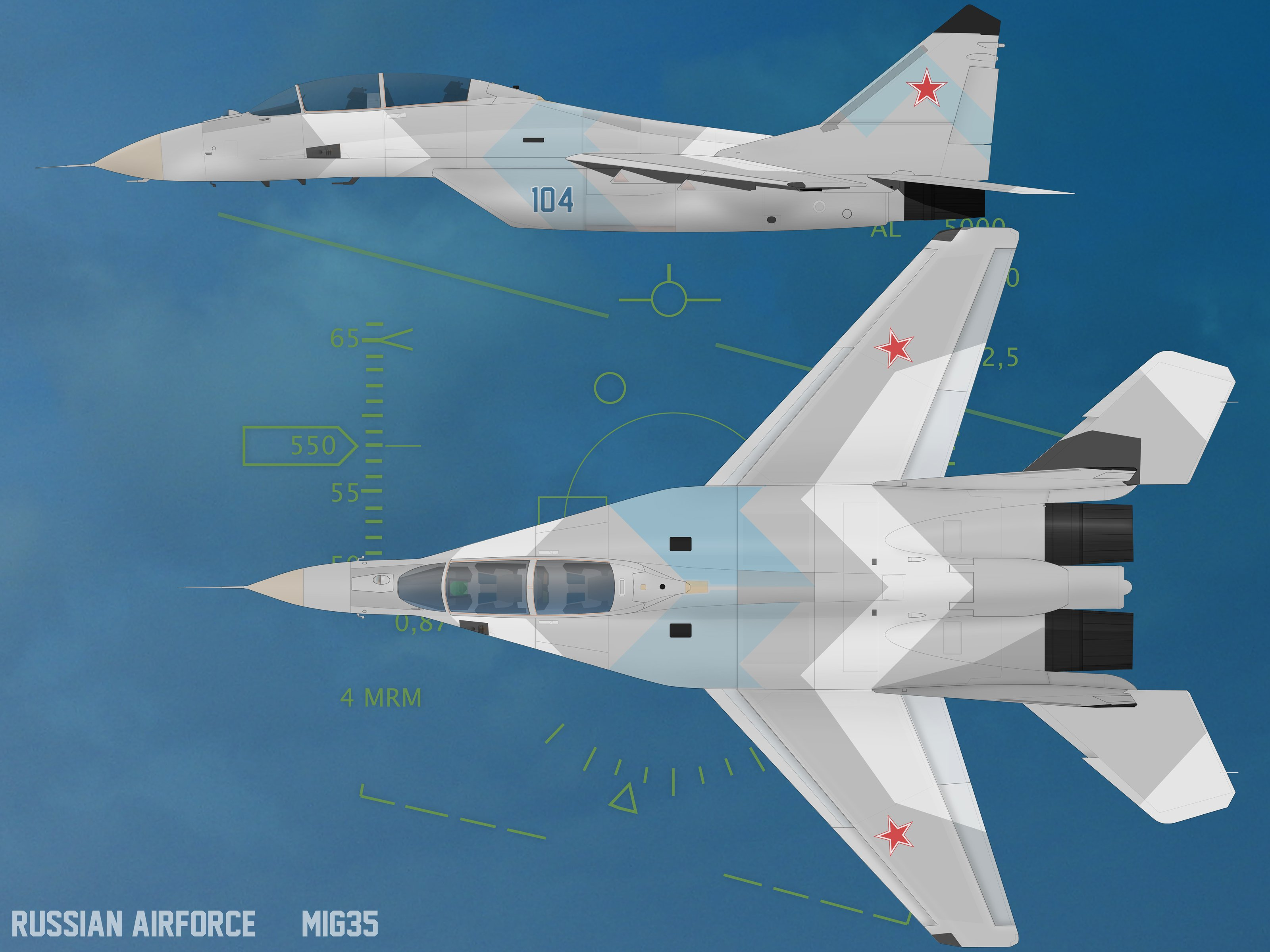 Mig 35 Fighter Jet Russian Airplane Plane Military Mig 17