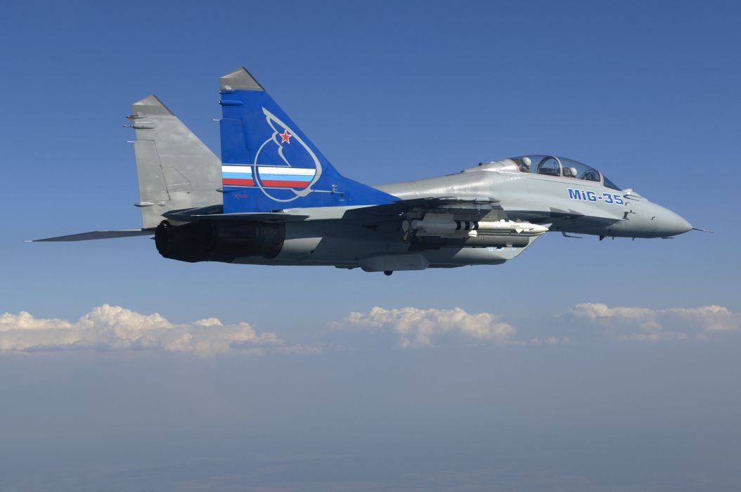 MIG-35 fighter jet russian airplane plane military mig (35) wallpaper